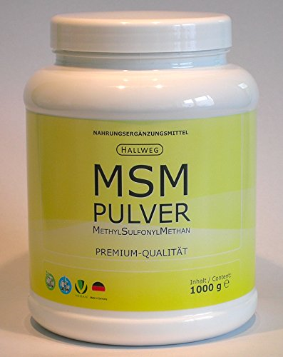 MSM Pulver MethylSulfonylMethan 1000 g Dose 1kg Made in Germany vegan noGMO