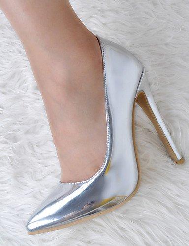 WSS 2016 Chaussures Femme-Mariage / Soirée & Evénement-Argent-Talon Aiguille-Talons / Bout Pointu-Chaussures à Talons-Cuir Verni silver-us7.5 / eu38 / uk5.5 / cn38