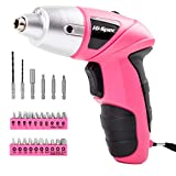 Best Electric Screwdrivers - Apollo Pink 4.8V Electric Cordless Screwdriver with 600 Review
