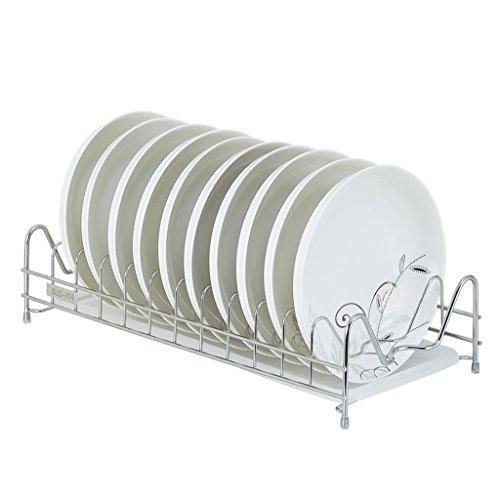&étagère de rangement Plateau à vaisselle Acier inoxydable Intégré Plats à l'air Drain Rack Produits de cuisine Single Layer Home Wall Hanging Dripping Drain Bowl Cabinets 43.5 * 20 * 10CM Rack de fin