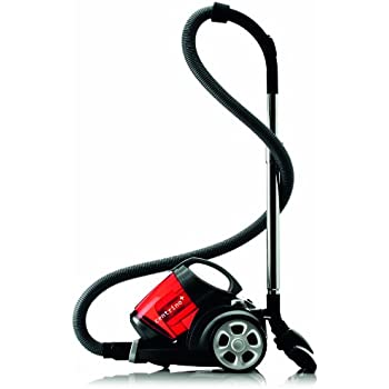 Dirt Devil Centrino Clean Control M2991-2 Aspirateur sans Sac + Brosse Parquet Noir/Rouge