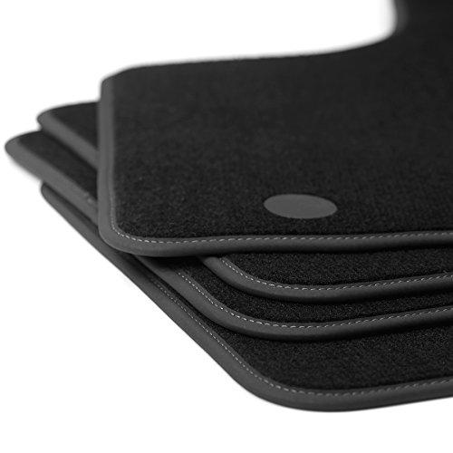 Preisvergleich Produktbild Fußmatten für Micra seit 2010 K13 Premium Velours Autoteppich schwarz