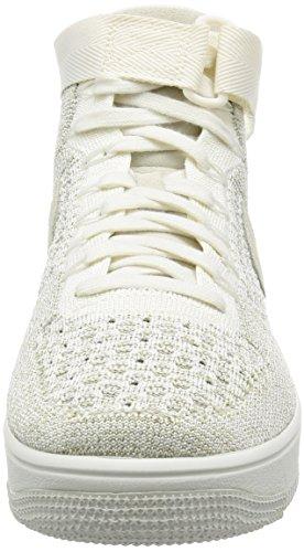 Nike Air Force 1 Ultra Flyknit Sneaker Turnschuhe Schuhe für Herren Beige (Sail/Pale Grey)