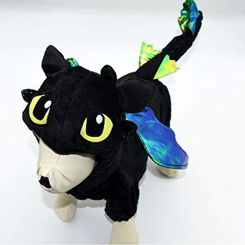 Hinweis Figur Kostüm - EDtara Geburtstagsgeschenk   Hunde Kostüm,HundemantelHoodie Mäntel,Niedlichen Cartoon Figur Form 4 Beine Cosplay Mantel for Hunde Halloween tragen Black 4#