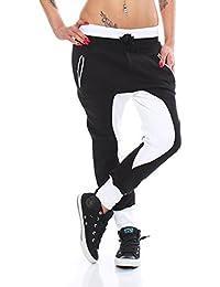 10675 Fashion4Young Damen Haremshose Hose Baggy Boyfriend Freizeithose Jogginghose Sporthose pants