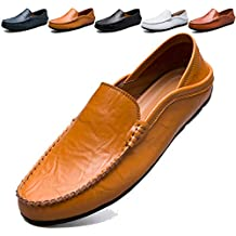 KAMIXIN Mocassini Uomo Pelle Estivi Pantofole Casual Eleganti Slip On Scarpe  da Guida Scarpe da Barca d407d0471ea