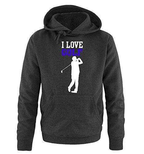 Comedy Shirts -  Felpa con cappuccio  - Maniche lunghe  - Uomo black / white-royal blue
