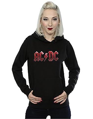 AC/DC Femme Red Ice Logo Sweat à capuche Medium Noir