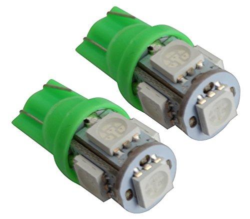 AERZETIX: Jeu de 2 ampoules T10 W5W 12V à 5 LED SMD (Vert)