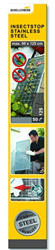 Schellenberg 50356 Sauberer Lichtschacht Schutz-Gewebe aus Edelstahl (50x125 cm)