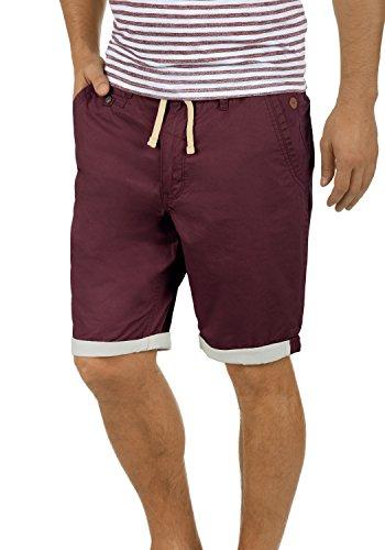 Blend Kankuro Herren Chino Shorts Bermuda Kurze Hose Mit Kordel Aus 100% Baumwolle Slim Fit, Größe:XXL, Farbe:Wine Red - China Das Ist