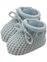 Soft Touch Baby Booties Knitted Newborn Bootees Size 0-3 Months Pink White Cream or Blue