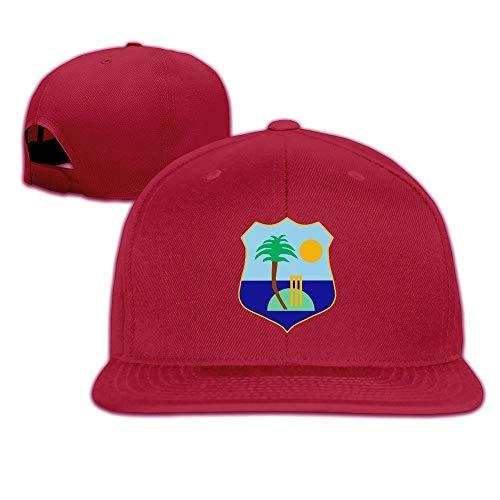 Youaini Unisex West Indies Cricket Board Flag Baseball Cap Red