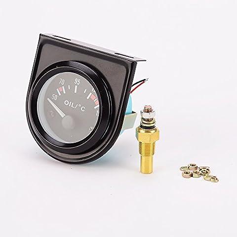 Indicador de Nivel de Temperatura del Aceite Digital Eléctrico Universal para Motocicleta Coche