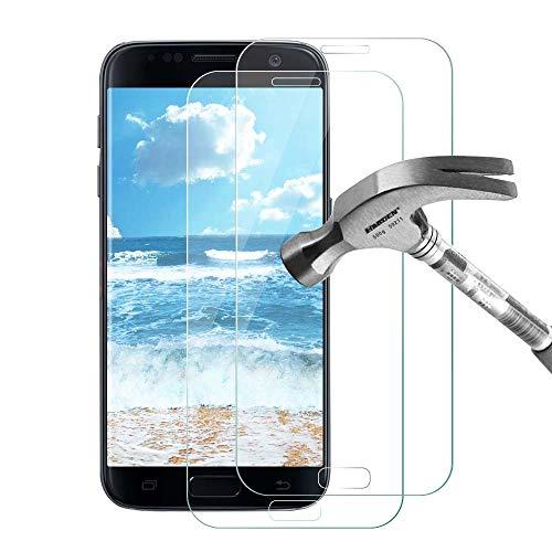 Galaxy S7 Panzerglas Schutzfolie, Bildschirmschutzfolie für Samsung Galaxy S7, 2 Stück Gehärtetem Glas Panzerglas Bildschirmschutzfolie Folie für Samsung Galaxy S7
