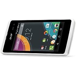 Acer Liquid Z220 Smartphone débloqué 3G+ (Ecran : 4 pouces - 8 Go - Double SIM - Android 4.4 Kitkat) Blanc