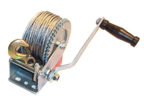 Car Boat Heavy Duty 1200LB Hand Winch & 20m Cable and Hook Test
