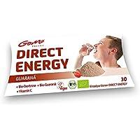 GoMo ENERGY Bio Vitalpulver mit 100mg Guarana davon 20mg natürliches Koffein │+100mg Vitamin C + Bio Dextrose I Pulver zum direkt einnehmen │ 30 Einzelportionen (30 x 4g)