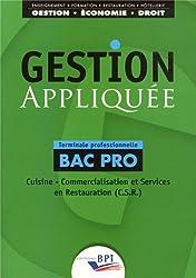 Gestion appliquée Bac Pro Terminale professionnelle