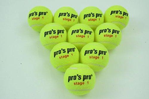 Pro's Pro Stage 1 Tennisbälle Methodik 30 Bälle Junior Training