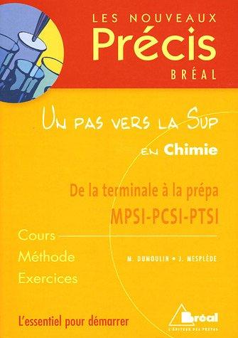 Un pas vers la Sup en Chimie : De la terminale à la prépa MPSI-PCSI-PTSI