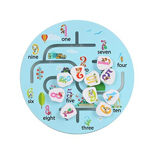 ghhshjhlk Anzahl Der Holztiere Mobile Puzzle Matching Track Labyrinth Spiel Bildung Kinder Spielzeug, Perfekte Weihnachten Spielzeug Für Kinder Geschenk Nummer