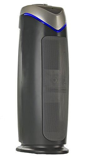 Breathe Fresh Purificatore d'aria Sistema di pulizia dell'aria 3-in-1 True Hepa UV-C Riducente di sangue in carbonio 56 CM Nero