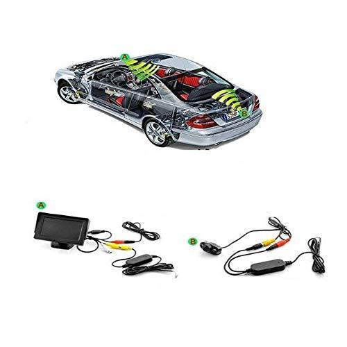 Jamicy® Sprichwort 2.4G kabelloser Farbvideosender und -empfänger für Kfz-Rückfahrkamera Frontkamera, kabelloses Sendemodul für Kfz-Rückfahrkamerasystem für PKW-Abholung