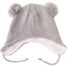 5a876203e243 Langzhen Baby Kinder Gefüttert Strickmütze Warme Fein Strick Winter Mütze  Beanie ...