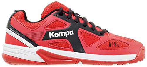 Kempa Unisex-Kinder Wing JUNIOR Ebbe & Flut Multisport Indoor Schuhe, (Lighthouse Rot/Schwarz 06), 35 EU