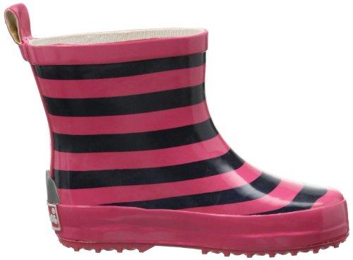 Playshoes Gummistiefel Ringel nieder Unisex-Kinder Kurzschaft Gummistiefel mit Reflektoren Pink (marine/pink 372)