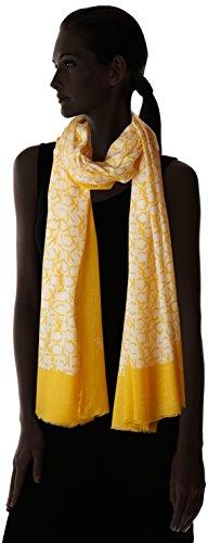 Calvin Klein Ck Allover Scarf, Foulard Tour de Cou Femme Rouge (Golden Rod 700)