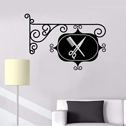 Preisvergleich Produktbild zhangsh Wandaufkleber Vinyl Friseurladen Logo Wandtattoo Friseursalon Wand Kunstwand Friseursalon Stylist Poster Friseur Dekoration Ay445 42X29Cm