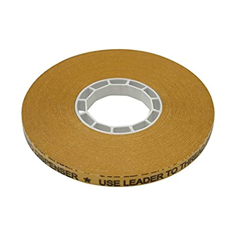 JVCC ATG-7502X ATG Tape: 1/4 in. x 36 yds. (Clear Adhesive on Gold Liner) *core for Scotch 1/4