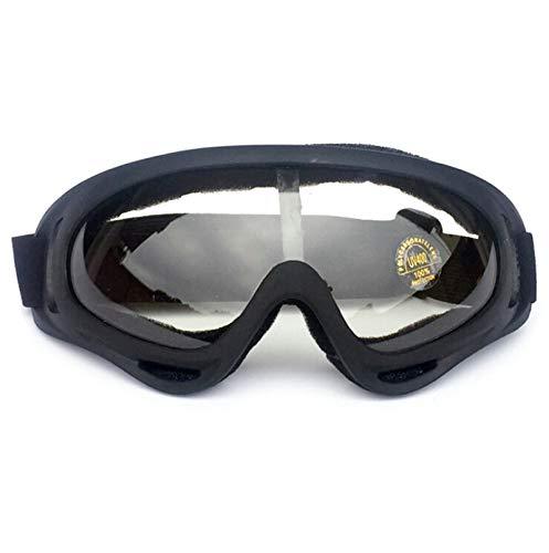 Adisaer Sportbrille Transparent X400 Brillen Off Road Brillen Motorradbrillen Skibrillen Männer Und Frauen Black Transparent Damen Herren