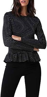 Scalpers Camiseta Rayas Lurex Volante - Black/S