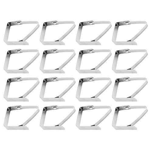 COM-FOUR® 16 Stück Tischtuchklammern aus Edelstahl