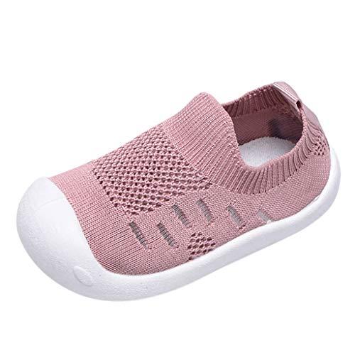 Precioul Sandalen für Kinder Weben Schuhe Mesh Atmungsaktiv Sportschuhe Freizeit Krabbelschuhe mit Weiche Sohle Bonbonfarbene Freizeitschuhe aus Stretch-Stoff -