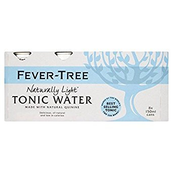 Fever-Tree Naturally Light Tonic Water Cans 24 x 150ml - Light Tonic