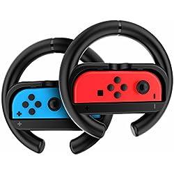 GameWill Joy-ConWheel (non incluso Nintendo Controller) nero (Set di 2)