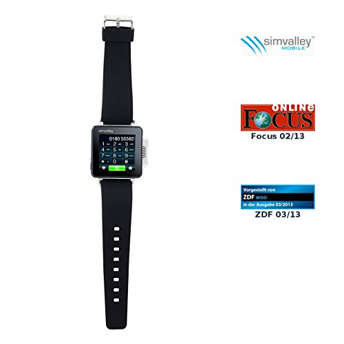 simvalley PW-315.Touch Mobile Handy-Uhr (Handy/Uhr/Mediaplayer) schwarz Touch Mobile Handy
