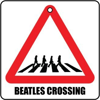 AAF-Road Sign BEATLES CROSSING CAR AIR FRESHENER (CHRISTMAS STOCKING FILLER)