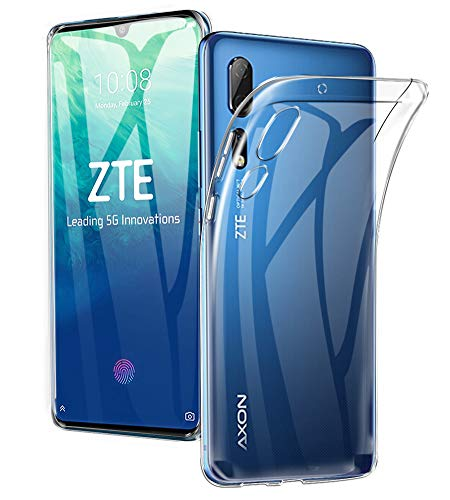 A-VIDET Hülle für ZTE Axon 10 Pro 5G,Ultradünnes Silikon Softschale R&umschutz Anti-Fall Gehäuse Einfache Rückenschutzhülle für ZTE Axon 10 Pro 5G(Transparent)
