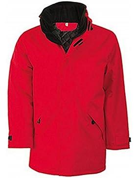 Kariban Unisex chaqueta de forro polar acolchado Parka, rojo, large