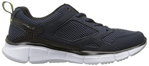 Skechers Equalizer game Point Jungen Sneakers Blau (Navy Lime)