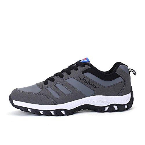 Uomo All'aperto Scarpe da corsa Leggero Scarpe sportive traspirante Antiscivolo formatori sandali euro DIMENSIONE 39-44 gray