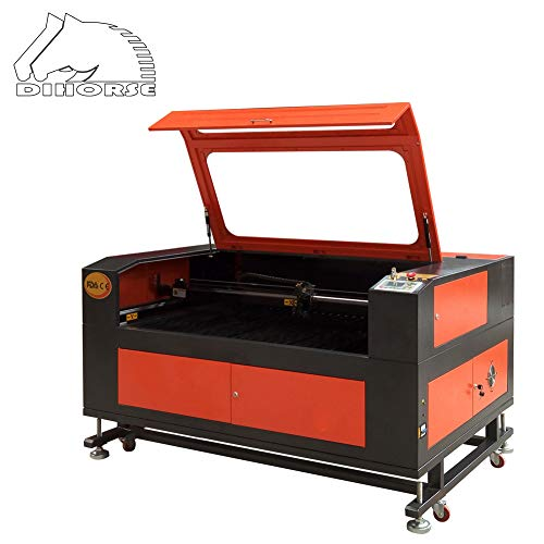 DIHORSE 100W CO2 Laser Engraving Cutting Machine 1300 * 900MM Working Area for Non-mental Cutting Engraving with USB Port Craft Engraver