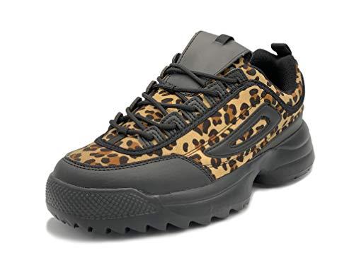 Elifano Footwear Damen Unisex Erwachsene Sneaker (38 EU, Leopard)