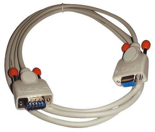 LINDY 31520 - RS232 Verlängerungskabel 9 pol. Sub-D Stecker an 9 pol. Sub-D Kupplung - 1:1 - 3m 9 Component-kabel