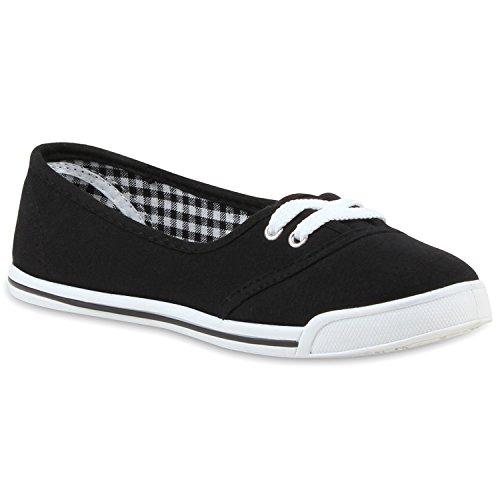 Klassische Damen Ballerinas Sportliche Stoff Slipper Flats Sneakers Slip-Ons Viele Farben Schuhe 55297 Grau 38 Flandell 4cDEO8J9Yg